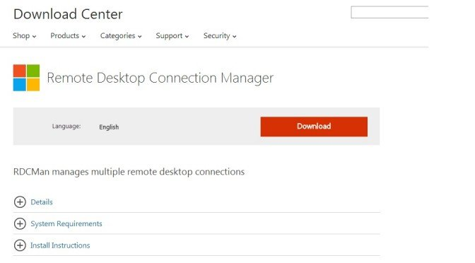 Remote Desktop Connection Manager V2.2